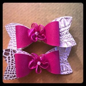 Hair bows made with Love!
